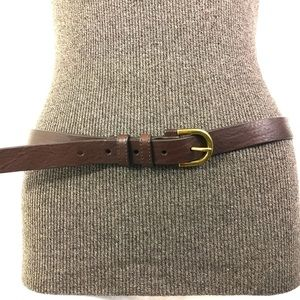 Eddie Bauer Leather Belt Brown Size Medium